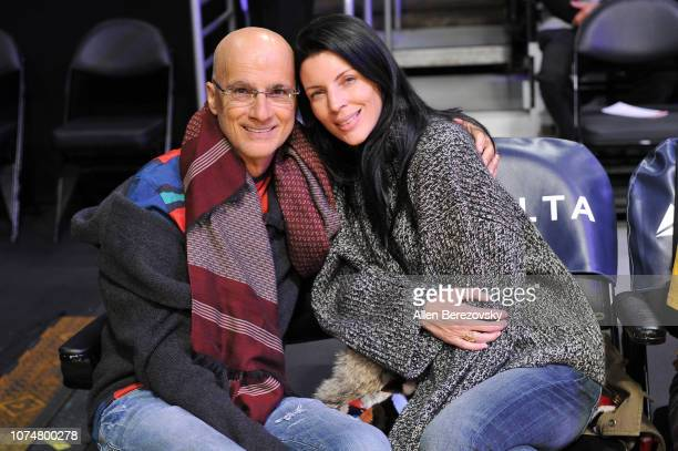 Jimmy Iovine and Liberty Ross attend a basketball game between the Los Angeles Lakers and the Indiana Pacers at Staples Center on November 29 2018 in...