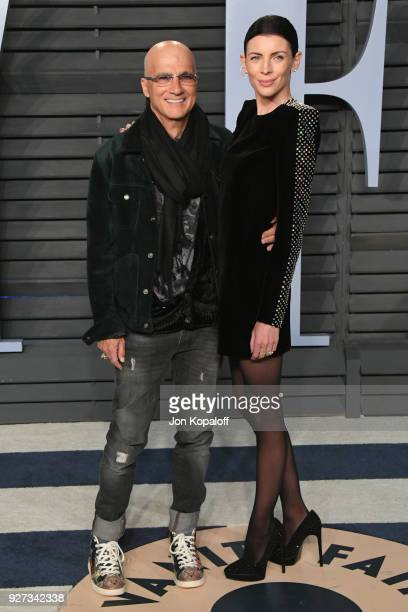 Jimmy Iovine and Liberty Ross attend the 2018 Vanity Fair Oscar Party hosted by Radhika Jones at Wallis Annenberg Center for the Performing Arts on...