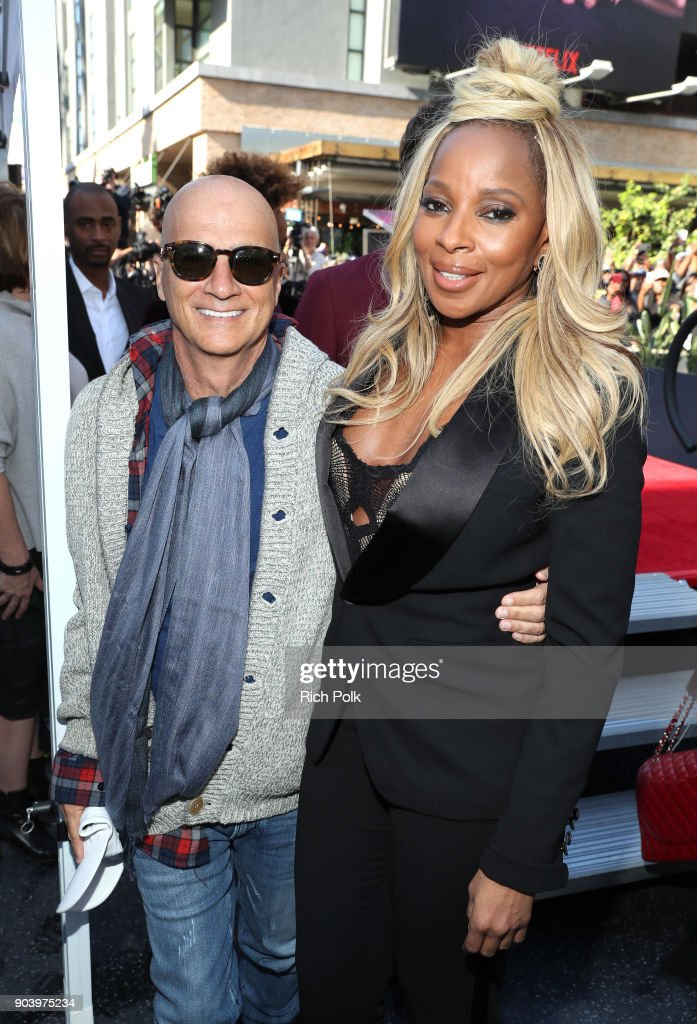 Jimmy Iovine (L) and Mary J. Blige attend the ceremony honoring Mary J. Blige with a Star on The Hollywood Walk of Fame on The Hollywood Walk of Fame on January 11, 2018 in Hollywood, California.