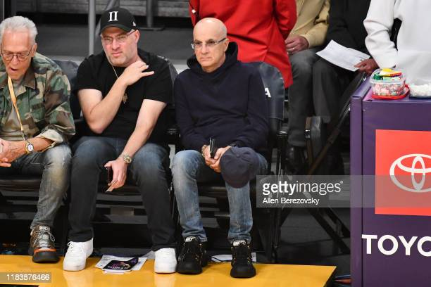 Jimmy Iovine attends a basketball game between the Los Angeles Lakers and the Charlotte Hornets at Staples Center on October 27 2019 in Los Angeles...