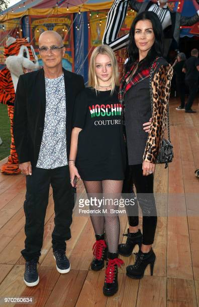 Jimmy Iovine Skyla Sanders and Liberty Ross attend Moschino Spring/Summer 19 Menswear and Women's Resort Collection at the Los Angeles Equestrian...