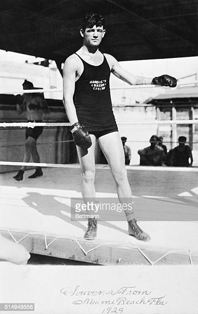 Jimmy J Braddock newly crowned heavyweight champion of the world is pictured enjoying a vacation at Miami Beach Florida in 1929