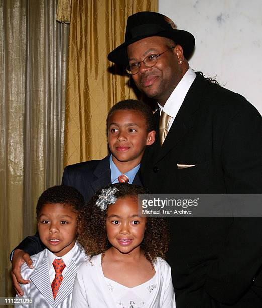 Jimmy Jam and his children during The 10th Annual Family Matters Benefit and Celebration at Regent Beverly Wilshire in Beverly Hills California...