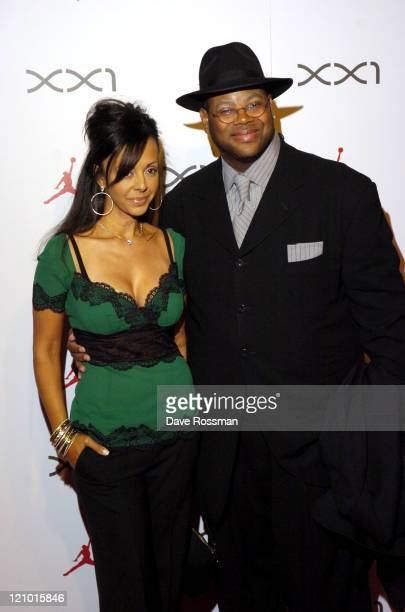 Jimmy Jam and his wife Elizabeth during Air Jordan XXI Launch Event in Houston Texas United States