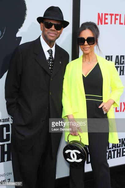 Jimmy Jam and his wife Lisa Padilla attend Premiere Of Netflix's The Black Godfather at Paramount Theater on the Paramount Studios lot on June 03...