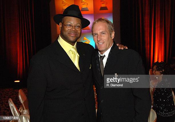 Jimmy Jam and Michael Bolton during 2005 Atlanta Heroes Awards at Westin Peachtree Plaza Hotel in Atlanta Georgia United States