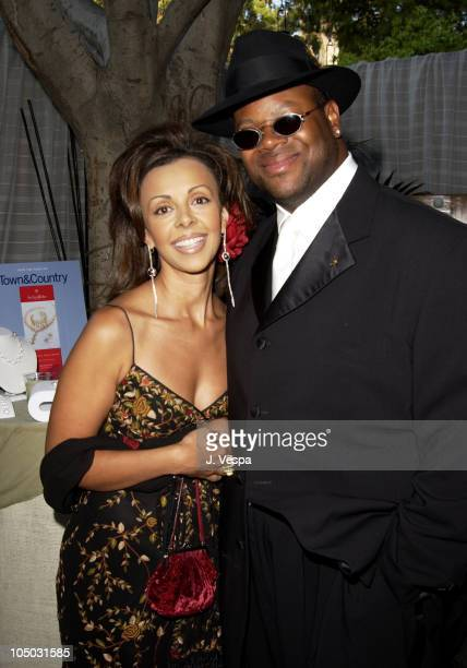 Jimmy Jam and wife Lisa during 2002 Essence Awards - Backstage Creations Talent Retreat at Universal Amphitheater in Universal City, California,...