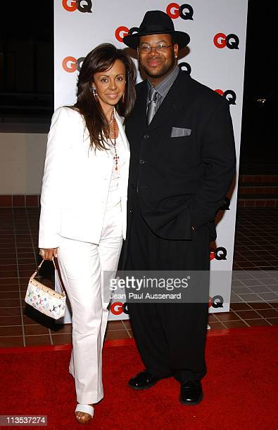 Jimmy Jam and wife Lisa during GQ Magazine 2004 NBA AllStar Party Arrivals at Astra West in West Hollywood California United States