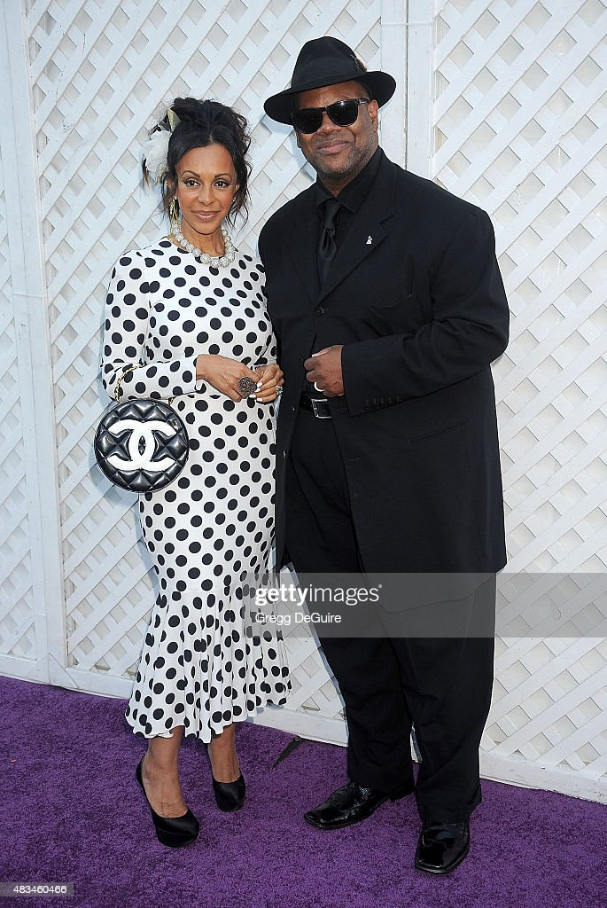 Jimmy Jam and wife Lisa Harris arrive at HollyRod Foundation's 17th Annual DesignCare Gala at The Lot Studios on August 8, 2015 in Los Angeles, California.