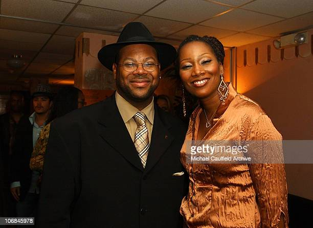 Jimmy Jam and Yolanda Adams during LA Chapter of The Recording Academy with EIF Celebrate the Music of Earth Wind Fire at GRAMMY Jam 2004 Backstage...