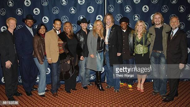 Jimmy Jam CeCe Winans Patti LaBelle Big Rich Mariah Carey Sway Natasha Bedingfield Chad Kroeger of Nickelback and Neil Portnow President of the...