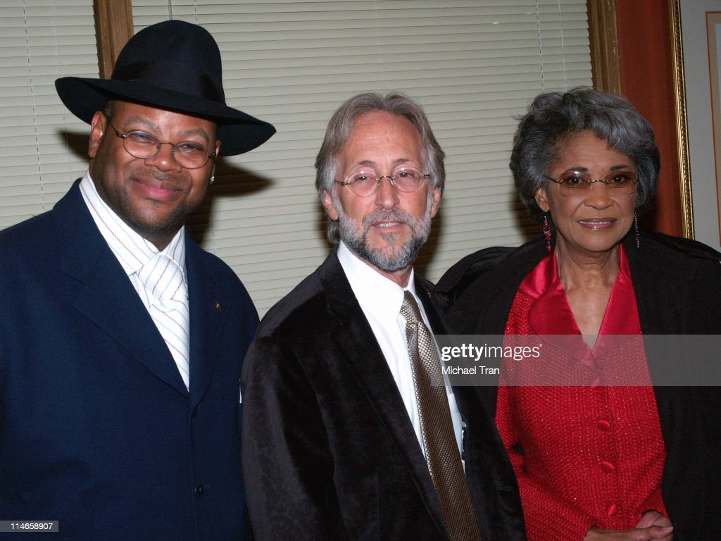 Jimmy Jam, Neil Portnow and Nancy Wilson during A GRAMMY Salute to Jazz - Cocktail Reception and Show at The Music Box At Henry Fonda Theatre in Hollywood, Los Angeles, United States.