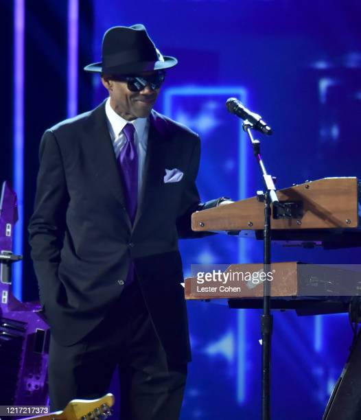 Jimmy Jam performs onstage during the 62nd Annual GRAMMY Awards Let's Go Crazy The GRAMMY Salute To Prince on January 28 2020 in Los Angeles...
