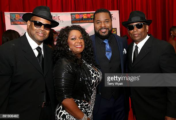 Jimmy Jam Regina McCrary Malcolm Jamal Warner and Terry Lewis attend the NMAAM 2016 Black Music Honors on August 18 2016 in Nashville Tennessee