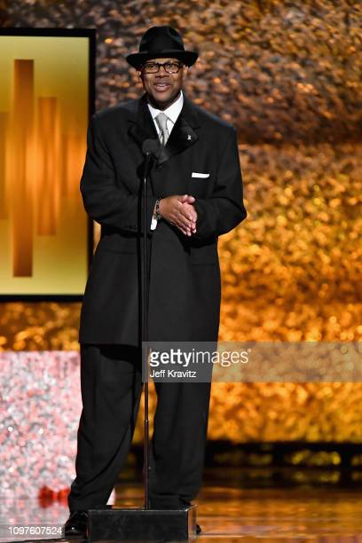 Jimmy Jam speaks onstage at the premiere ceremony during the 61st Annual GRAMMY Awards at Microsoft Theater on February 10 2019 in Los Angeles...