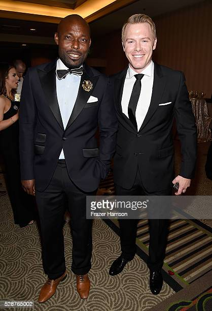 Jimmy JeanLouis and Diego Klattenhoff attend Unbridled Eve Gala during the 142nd Kentucky Derby on May 6 2016 in Louisville Kentucky