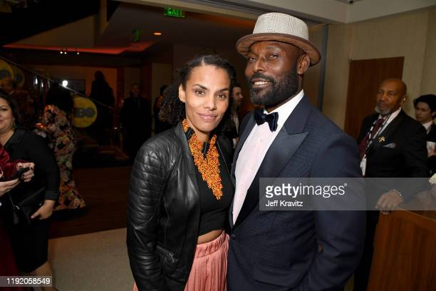 Jimmy JeanLouis and Evelyn JeanLouis at HBO's Official 2020 Golden Globe Awards After Party on January 05 2020 in Los Angeles California