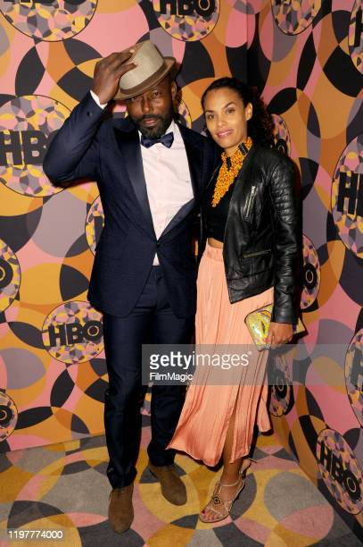 Jimmy JeanLouis and Evelyn JeanLouis attend HBO's Official 2020 Golden Globe Awards After Party in Los Angeles California