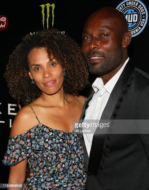 Jimmy JeanLouis and Evelyn JeanLouis attend the 2nd Annual Game On Gala Celebrating Excellence In Sports held at the W Hollywood on July 08 2019 in...