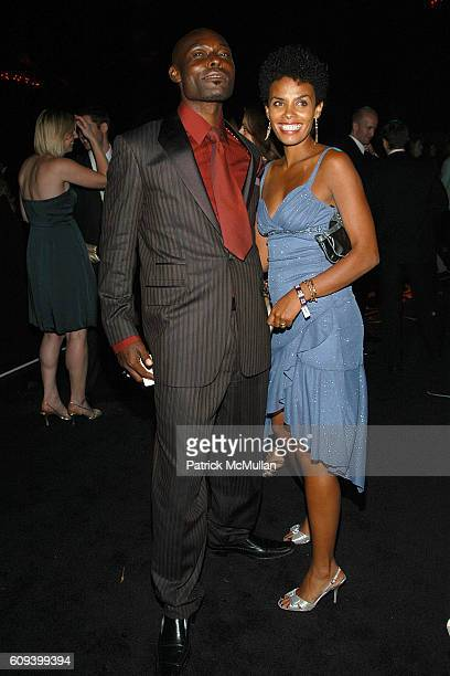 Jimmy JeanLouis and Evelyn JeanLouis attend The 59th Primetime EMMY Awards TV Guide After Party Inside at Les Deux on September 16 2007 in Hollywood...
