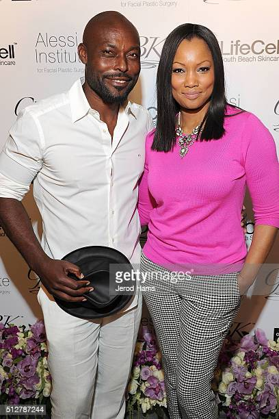 Jimmy JeanLouis and Garcelle Beauvais attend the GBK LifeCell 2016 Pre Oscar Lounge at The London West Hollywood on February 27 2016 in West...