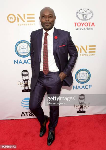 Jimmy JeanLouis attends the 49th NAACP Image Awards at Pasadena Civic Auditorium on January 15 2018 in Pasadena California