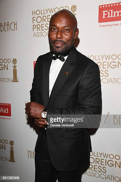 Jimmy JeanLouis attends The Hollywood Foreign Press Association Honour Filmaid International party during The 69th Annual Cannes Film Festival on May...