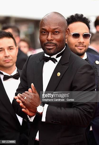 Jimmy JeanLouis attends the 'Slack Bay ' premiere during the 69th annual Cannes Film Festival at the Palais des Festivals on May 13 2016 in Cannes...