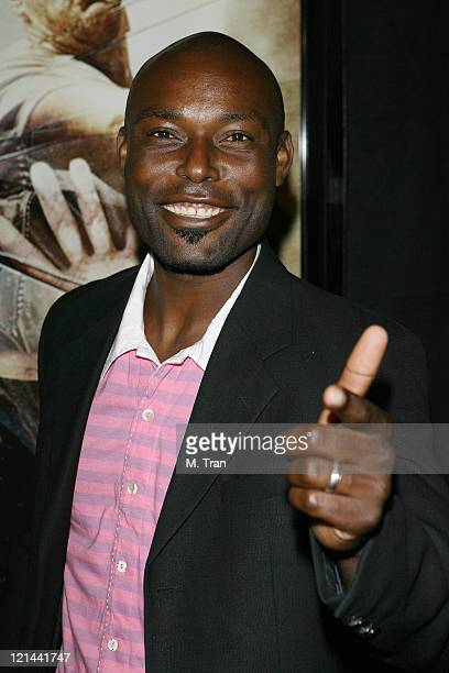 Jimmy JeanLouis during 'The Condemned' Los Angeles Premiere Arrivals at Arclight in Hollywood California United States
