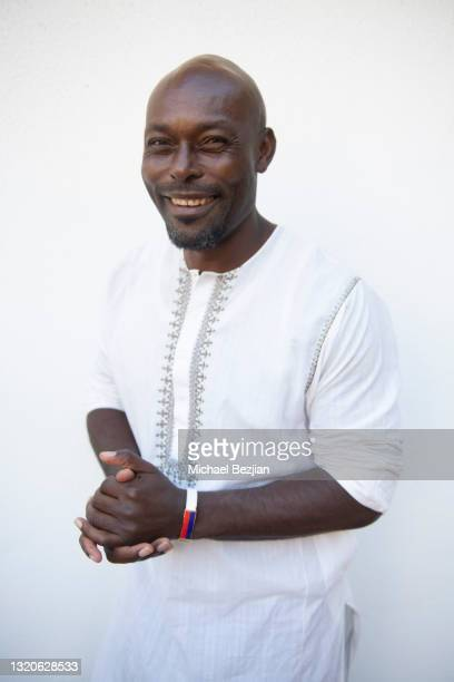 Jimmy Jean-Louis poses for a portrait at The Artists Project Giveback Day on May 28, 2021 in Los Angeles, California.