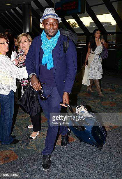Jimmy JeanLouis sighted arriving at Fort Lauderdale International Airport on April 9 2014 in Fort Lauderdale Florida