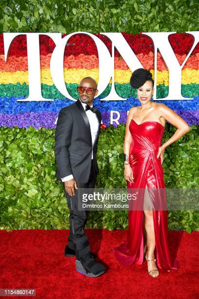 Jimmy Keys and Dominique Morisseau attend the 73rd Annual Tony Awards at Radio City Music Hall on June 09 2019 in New York City