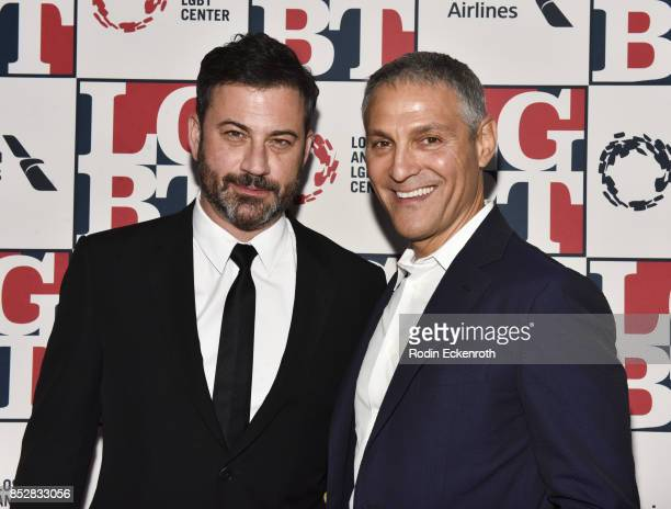Jimmy Kimmel and Ariel Emanuel attend Los Angeles LGBT Center's 48th Anniversary Gala Vanguard Awards at The Beverly Hilton Hotel on September 23...