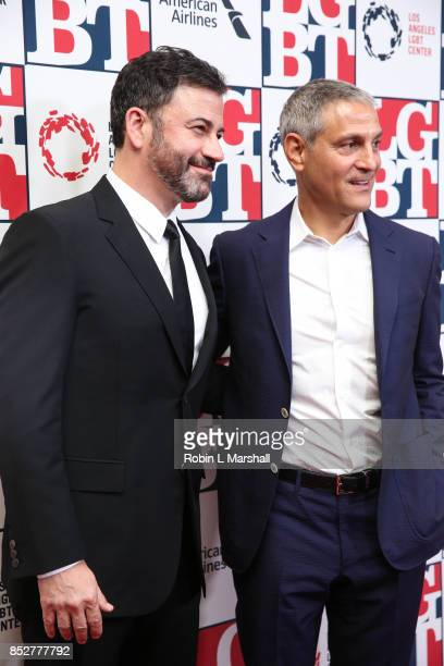 Jimmy Kimmel and Ariel Emanuel attend the Los Angeles LGBT Center's 48th Anniversary Gala Vanguard Awards at The Beverly Hilton Hotel on September 23...