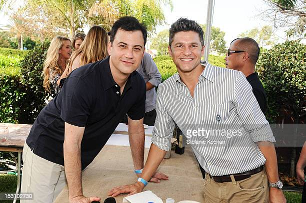 Jimmy Kimmel and David Burkta attend LA Loves Alex's Lemonade At Culver Studios at Culver Studios on September 29 2012 in Culver City California