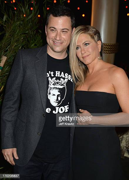 Jimmy Kimmel and Jennifer Aniston attend Spike TV's 'Guys Choice 2013' at Sony Pictures Studios on June 8 2013 in Culver City California