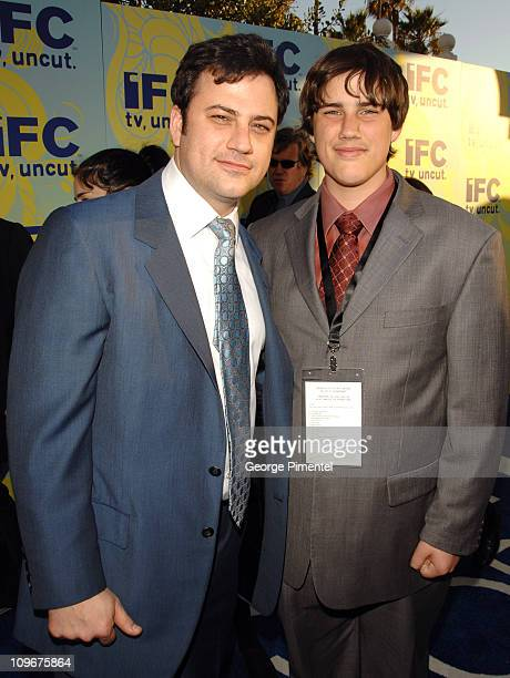 Jimmy Kimmel and Kevin Kimmel during 2007 IFC Party Following Film Independent's Spirit Awards at Shutters in Santa Monica California United States