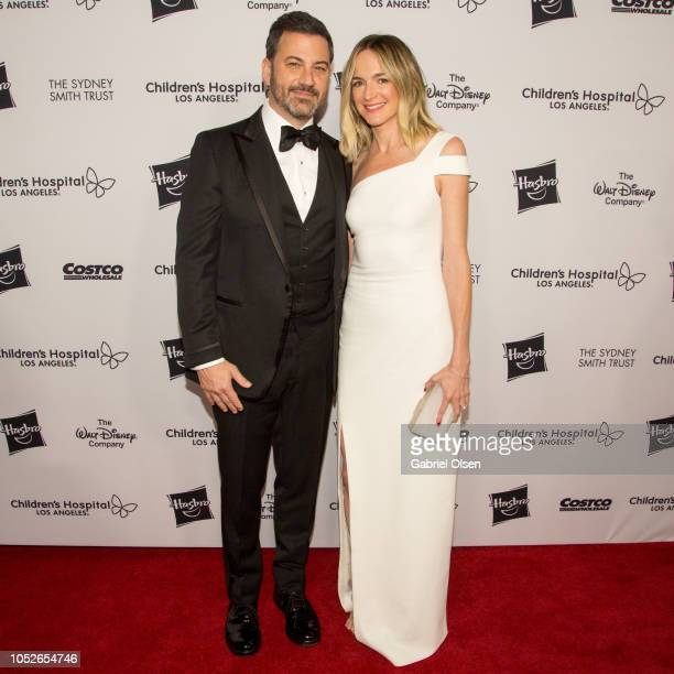 Jimmy Kimmel and Molly McNearney arrives for 2018 From Paris with Love Children's Hospital Los Angeles Gala at LA Live Event Deck on October 20 2018...