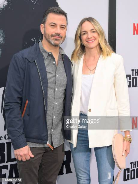 """Jimmy Kimmel and Molly McNearney attend Netflix world premiere of """"THE BLACK GODFATHER at the Paramount Theater on June 03, 2019 in Los Angeles,..."""