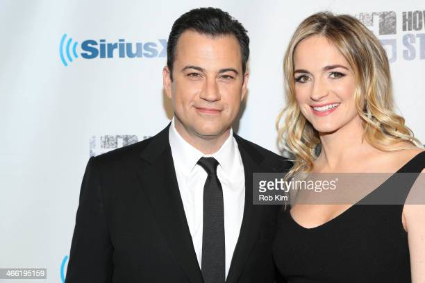 Jimmy Kimmel and Molly McNearney attend SiriusXM's 'Howard Stern Birthday Bash' at Hammerstein Ballroom on January 31 2014 in New York City