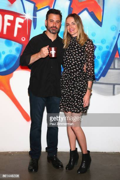 Jimmy Kimmel and Molly McNearney attend the Jimmy Kimmel Live Welcome to Brooklyn kickoff hosted by SMIRNOFF vodka at Pioneer Works on October 14...