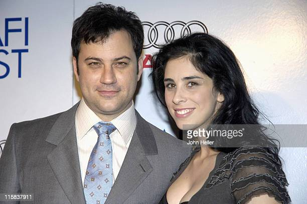 Jimmy Kimmel and Sarah Silverman during AFI Film Fest 2005 Sarah Silverman Jesus is Magic Premiere at Arclight Cinemas in Hollywood California United...