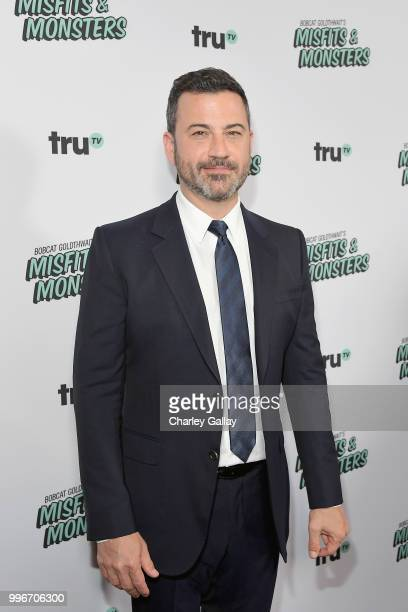 Jimmy Kimmel attends Bobcat Goldthwait's Misfits Monsters Premiere Event at The Hollywood Roosevelt Hotel on July 11 2018 in Hollywood California...