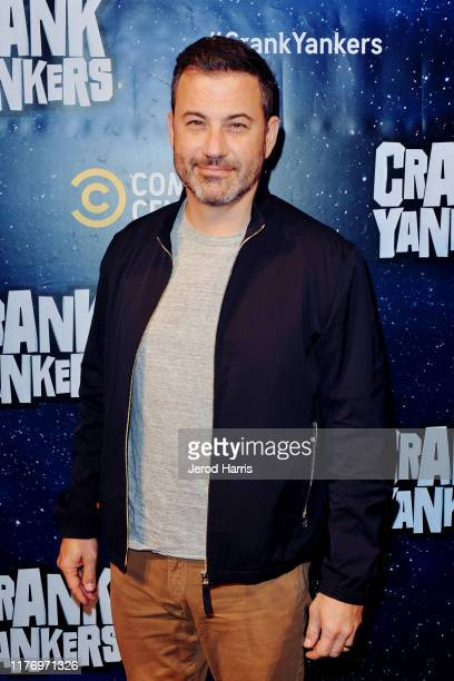 Jimmy Kimmel attends 'Crank Yankers' 2019 Premiere Party at Two Bit Circus on September 24 2019 in Los Angeles California