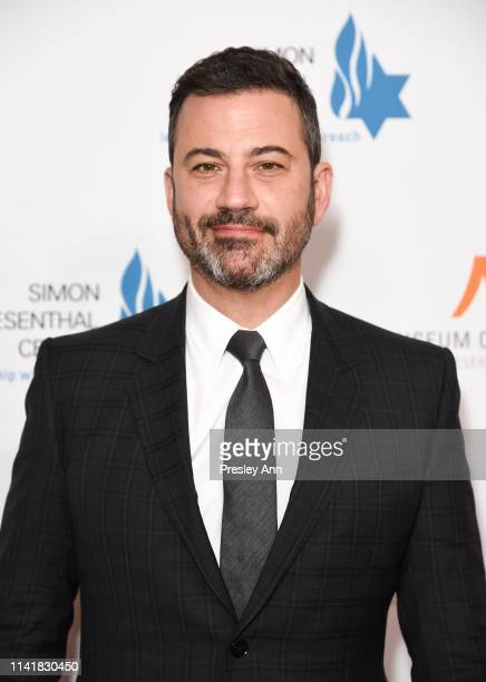 Jimmy Kimmel attends Simon Wiesenthal Center's 2019 National Tribute Dinner at The Beverly Hilton Hotel on April 10 2019 in Beverly Hills California