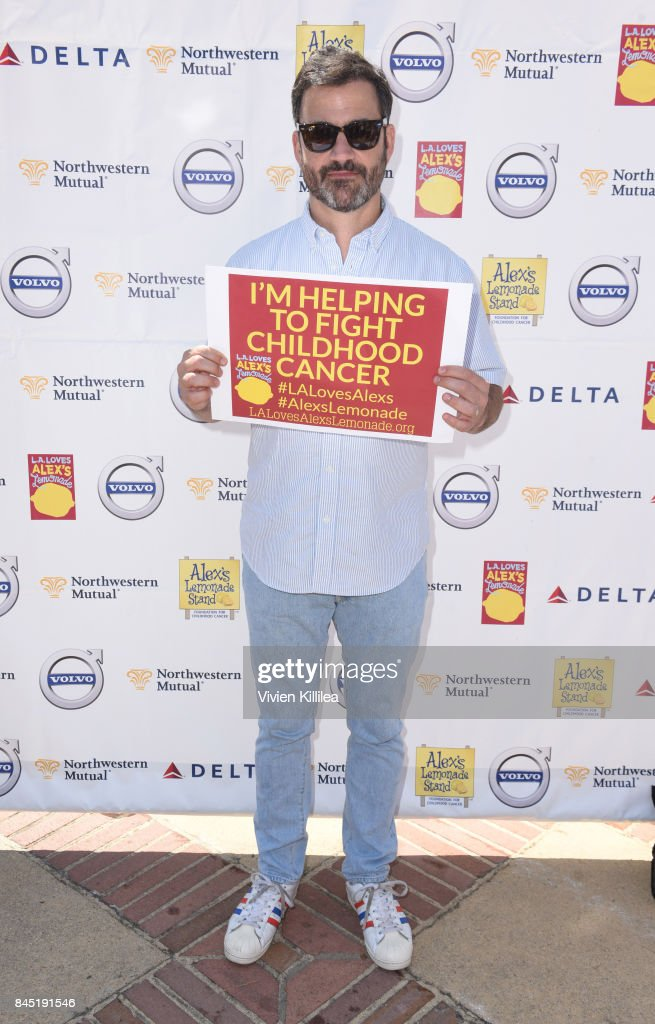Jimmy Kimmel attends the 8th Annual L.A. Loves Alex's Lemonade at UCLA Royce Quad on September 9, 2017 in Los Angeles, California.