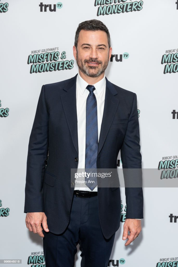 Jimmy Kimmel attends the premiere of truTV's 'Bobcat Goldthwait's Misfits & Monsters' at Hollywood Roosevelt Hotel on July 11, 2018 in Hollywood, California.