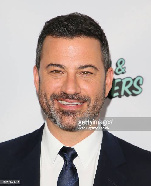 Jimmy Kimmel attends the premiere of truTV's Bobcat Goldthwait's Misfits Monsters held at Hollywood Roosevelt Hotel on July 11 2018 in Hollywood...