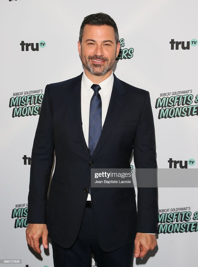 Jimmy Kimmel attends the premiere of truTV's 'Bobcat Goldthwait's Misfits & Monsters' held at Hollywood Roosevelt Hotel on July 11, 2018 in Hollywood, California.
