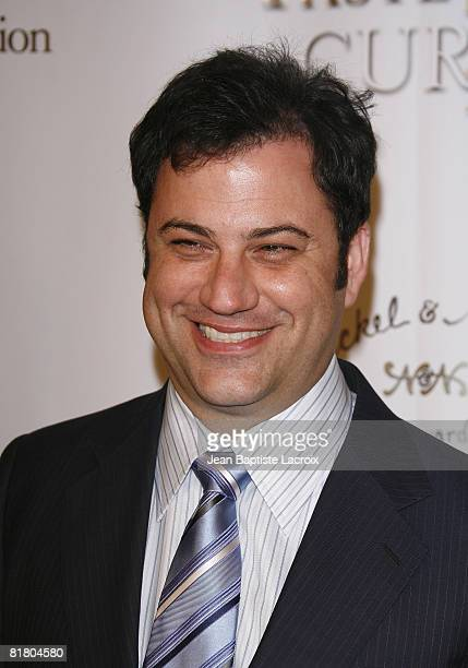 Jimmy Kimmel attends the TASTE FOR A CURE fundraiser for the Jonsson Cancer Center Foundation on June 21, 2008 at The Beverly Wilshire Hotel in...